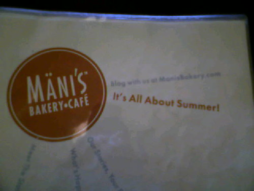 Mani's menu