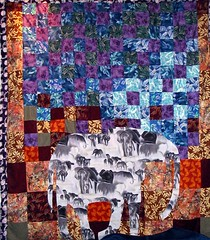 Elephant Quilt I made for my parents