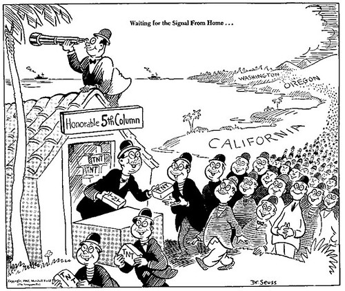 1942 cartoon by Theodor Seuss Geisel, otherwise known as Dr. Seuss