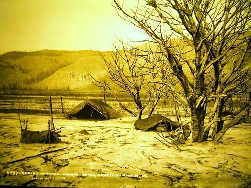 Te Wairoa Buried Village當時照片