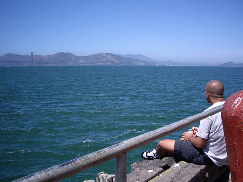 eating on the dock at fort mason