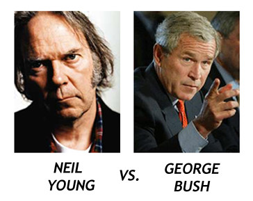 Imagen de Neil Young versus George Bush