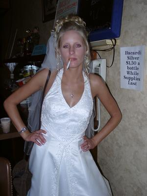 White trash bride