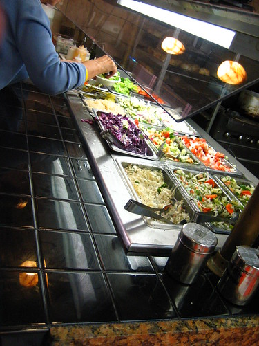 Salad bar (?!?) at the Pita Nosh