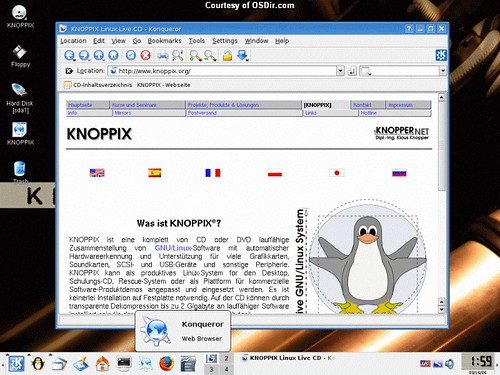 Knoppix Screenshot - browser