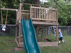 Tree house fun for both kids