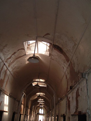 hallway in Eastern State Penitentiary, May 2006