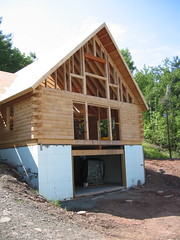Gable with window framing 02