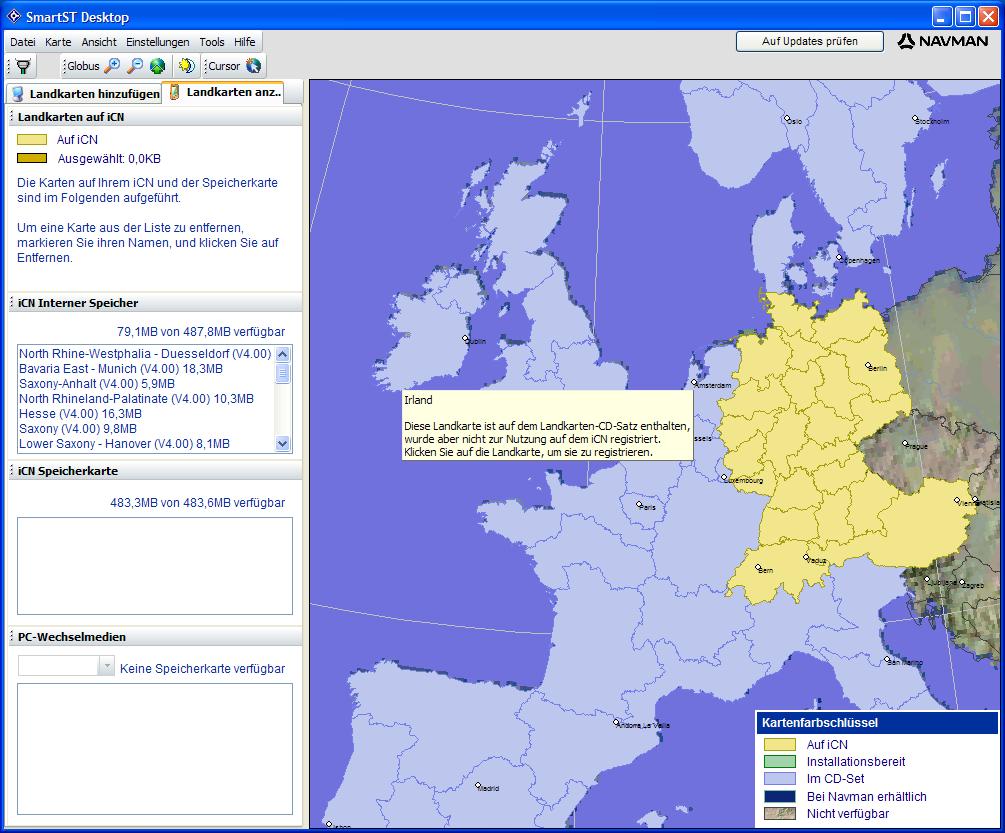 vowe dot net :: Navman iCN 720: Installing additional maps