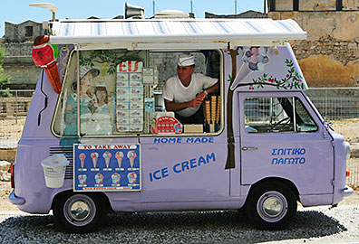 Ice Cream Van, Rhodes