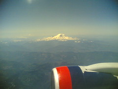 Mt Ranier from a plane