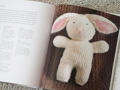 Rabbit soft toy from Last Minute Knitted Gifts