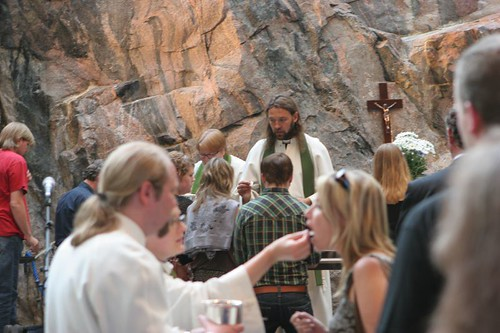 Metall mass at Temppeliaukio church