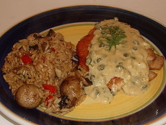 Chicken Breast in a Caper Cream Sauce