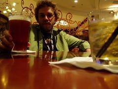 Dave enjoys a beverage