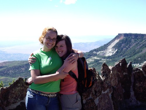Mercedes and Jessie on top of the Grand Mesa in GJ, CO