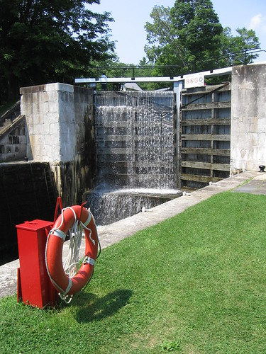 Visiting Jones Falls on the Rideau Canal, Ontario, Canada