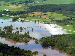 Mohawk River Flooding at Intersection of Routes 5 & 67 Between Nelliston & St. Johnsville, NY.