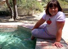 Stu in the fountain