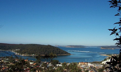 Wagstaffe, Ettalong & Barrenjoey Head from Blackwall Mountain