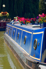 Blue Canal Boat