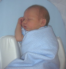 Matthew - taking a nap - 4 days old.