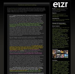 The old design of my blog