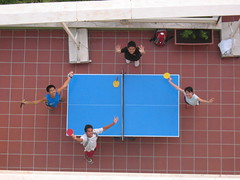 table tennis by the marina