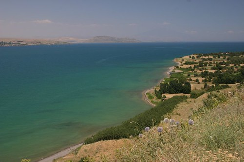 Beautiful Lake Van near Tatvan, July 2006.