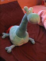 IKEA turquoise giraffe toy