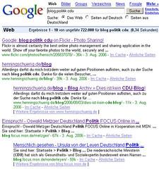 Google: blog politik cdu (Update)