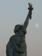 Statue of Liverty and moon
