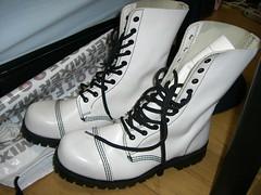 白のブーツ