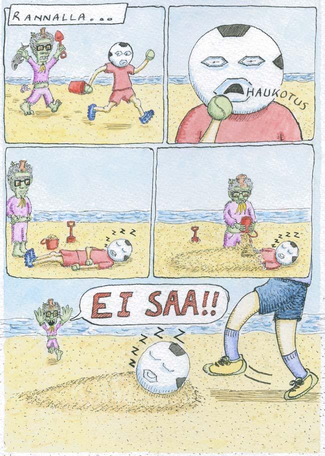 Haju-Hemmo ja Pallo-Poika ranalla