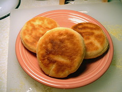 Cooked English muffins