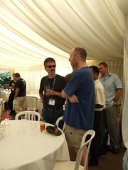Bob DuCharme and Marc Hadley pre-punting
