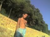 Hugo en la playa