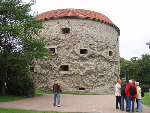 Outside the walls of the old city of Tallinn