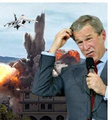 Montaje que circuló por la Red durante la guerra de Irak para caricaturizar a los periodistas empotrados con el ejército norteamericano y el tipo de información sesgada que podían ofrecer