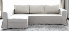 IKEA Manstad Sofa Bed Custom Linen Slipcover - Comfort Works photo by Comfort Works
