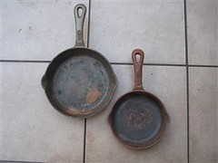 Old rusty cast iron