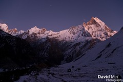 Annapurna, Nepal - Mount Machapuchare @Dawn photo by GlobeTrotter 2000