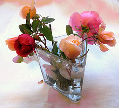 Roses for my Flickr friends photo by Marlis1