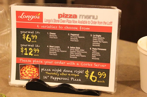 Longo's Pizza Menu