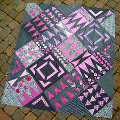 Radiant Orchid Quilt Top photo by Marci Girl Designs