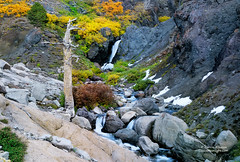 Waterfall & Old Crag - Sonora Pass, California photo by Darvin Atkeson