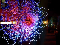 digital light explosion photo by Tessa Beligue