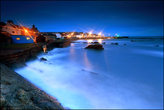 St Monans - Harbour Lights & the Blue Hut photo by angus clyne