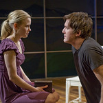 Kelly O'Sullivan (Claudia) and Nathan Hosner (Ian) in HESPERIA at Writers' Theatre. Photo by Michael Brosilow.