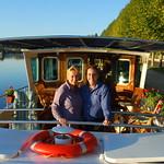 Deb and Olivier C'est la Vie barge owners